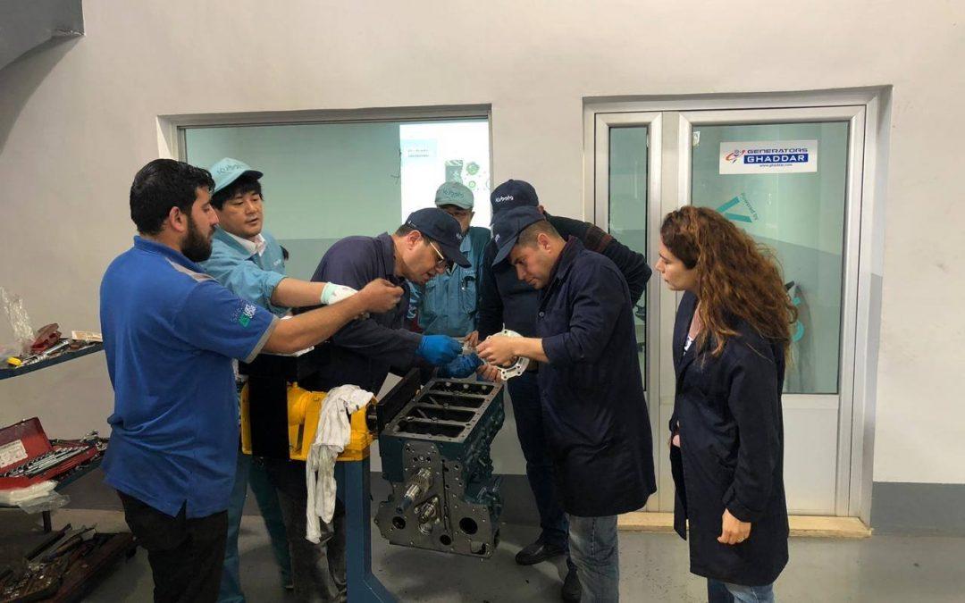 Ghaddar Machinery Staff's AdvancedTraining on Kubota BG Series Engines