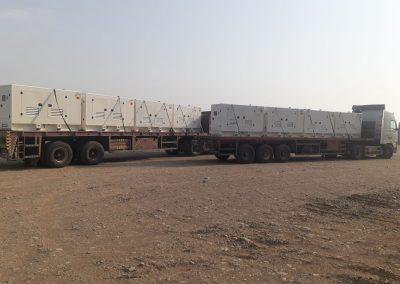 Ghaddar Generators Powered by John Deere in the Heart of the Desert.