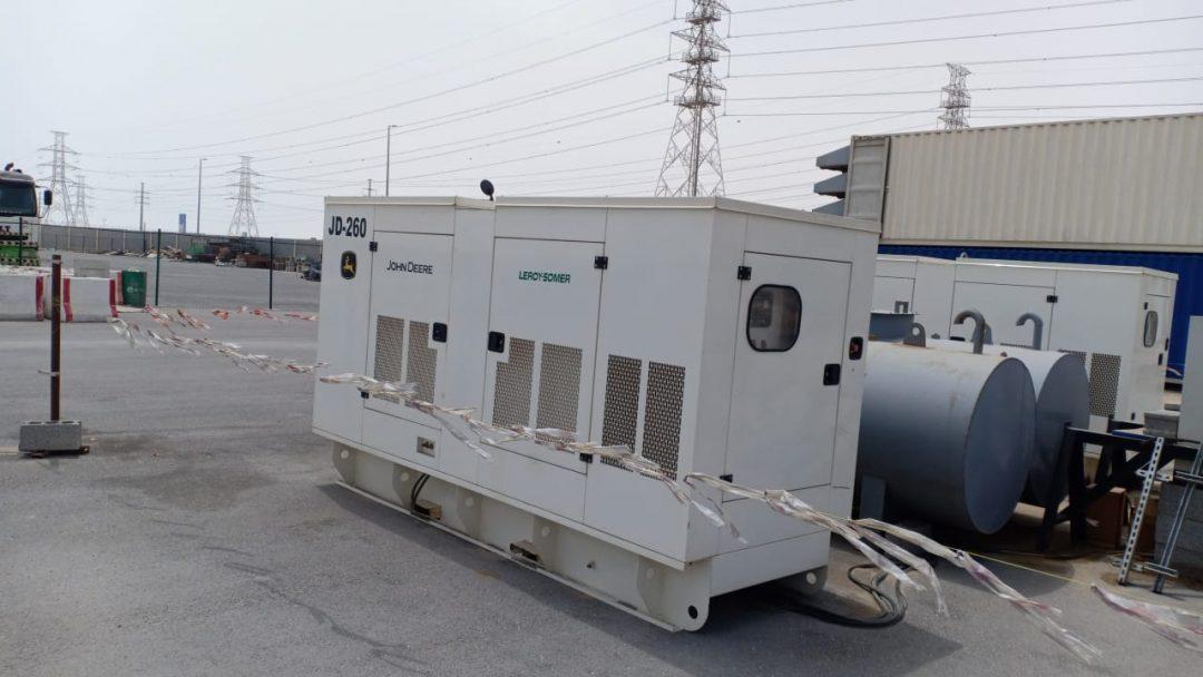 Ghaddar Generators Powered by John Deere Engines providing Rental Power in Saudi Arabia